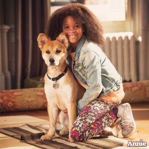 Annie and her dog