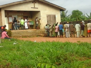 That was where i exercised my right to vote as a Nigerian citizen. Hmm