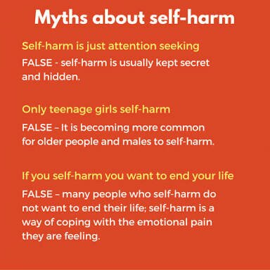 Myths about self harm