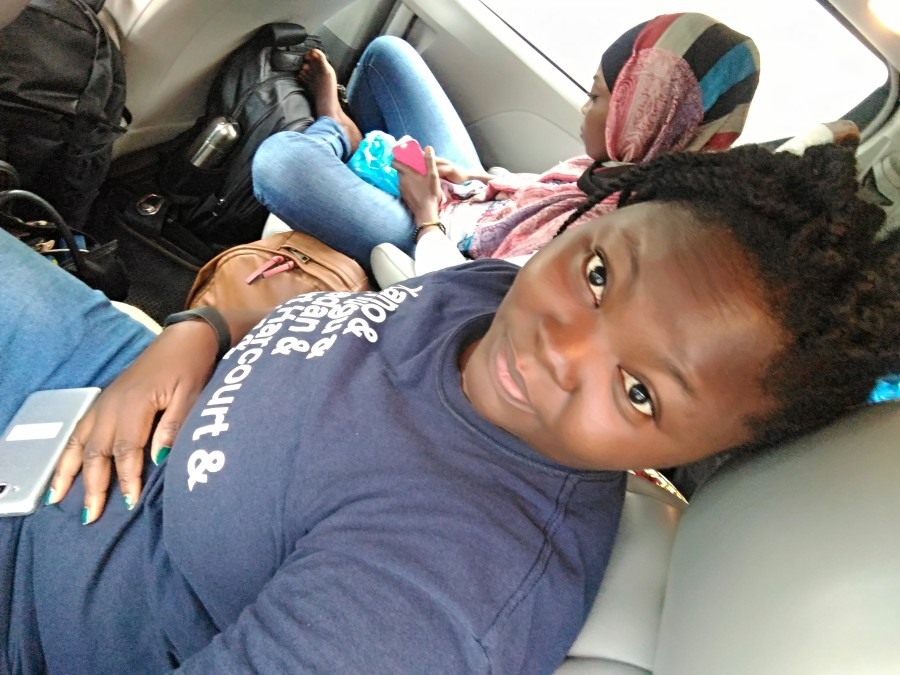 Mary on her way to Accra GH for Tech Women Africa 2018