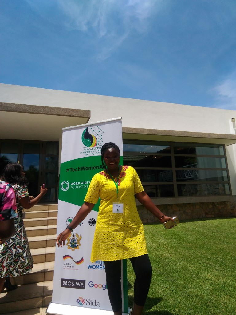 Mary, Day one of TechWomenAfrica 2018