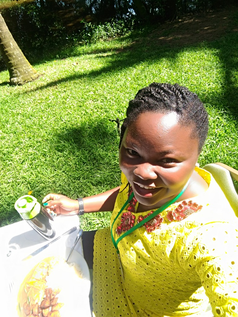 Mary at Tech Women Africa 2018 having Lunch