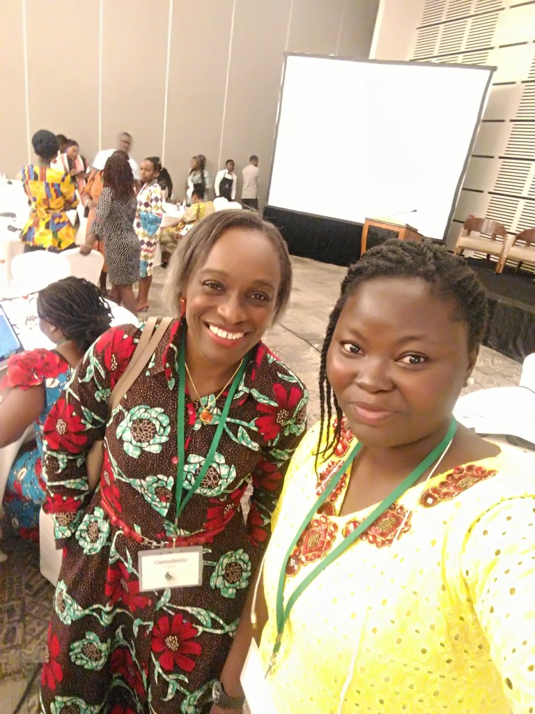 Mary, at TechWomenAfrica 2018, with Dr. Omobola Johnson, her talk was very very awesome