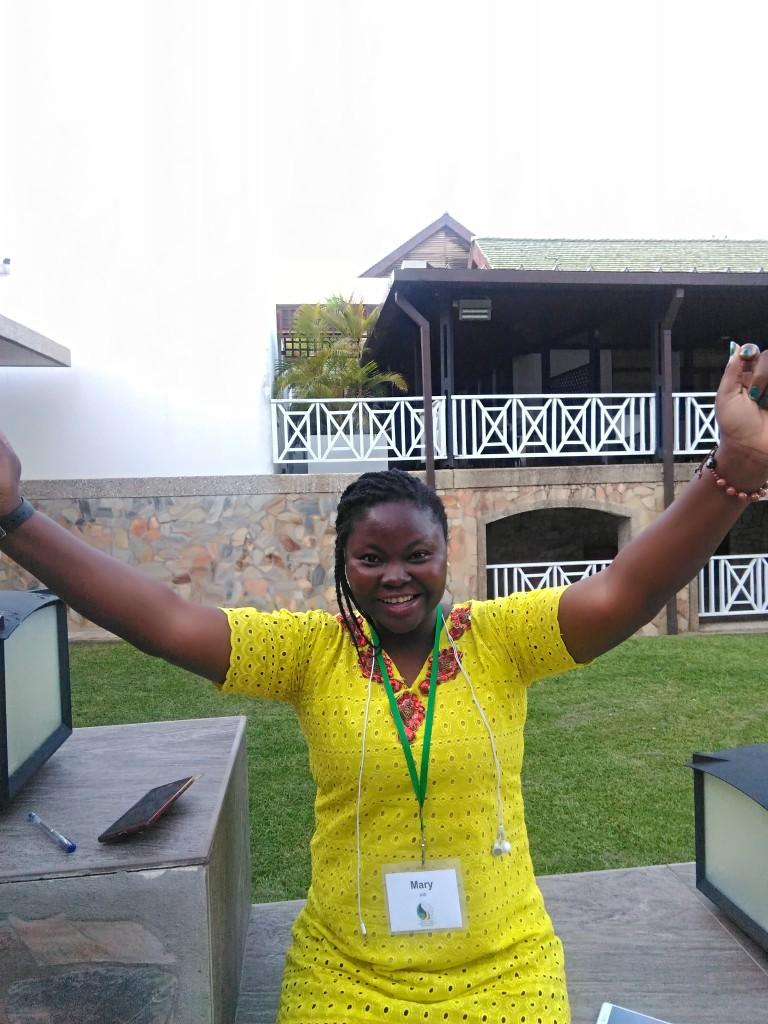 Mary, Day one of TechWomenAfrica 2018